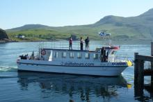 Staffa Tours, MV Islander boat arriving at Kilchoan