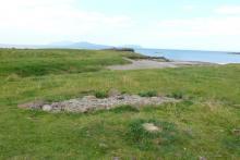 The Viking Boat Burial site at Swordle Bay
