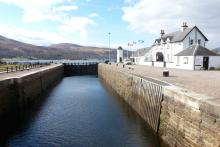 Corpach Sea Loch on the Caledonian Canal