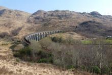 Looking back down over Glenfinnan viaduct