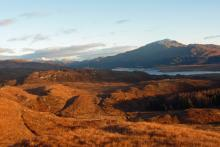 Looking over Loch Shiel to Ben Resipole for the hills above High Mingarry