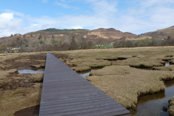 Section of board walk across the salt marsh