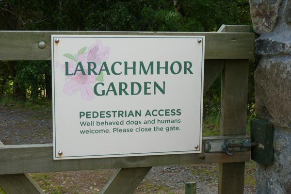 The entrance to Larachmhor Gardens
