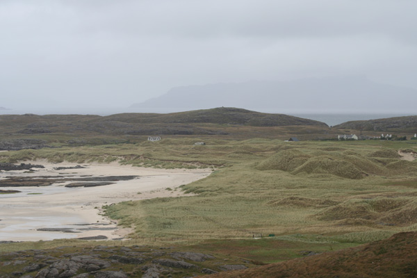 Sand dunes and machair at Sanna