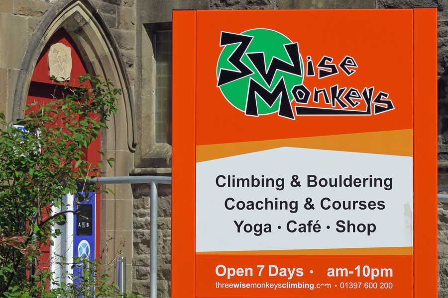 Three Wise Monkeys Climbing in Fort William