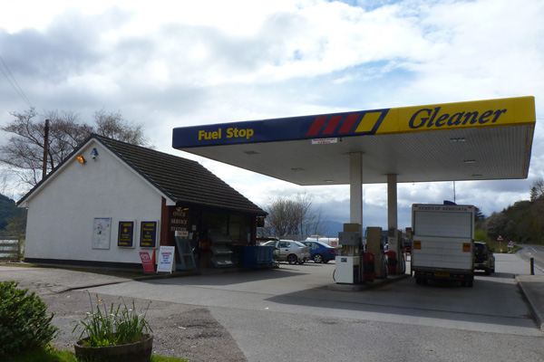 Gleaner Fuel Stop at Onich