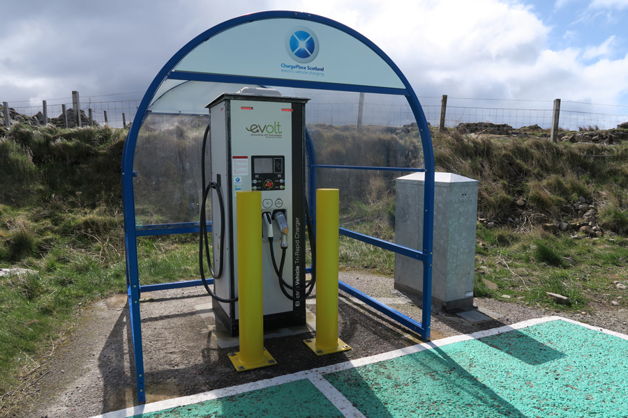 Electric Vehicle Rapid Charger in Kilchoan
