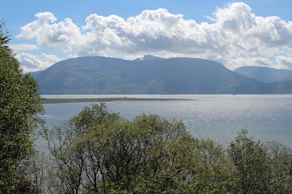 Great views over Loch Linnhe towards Glen Coe
