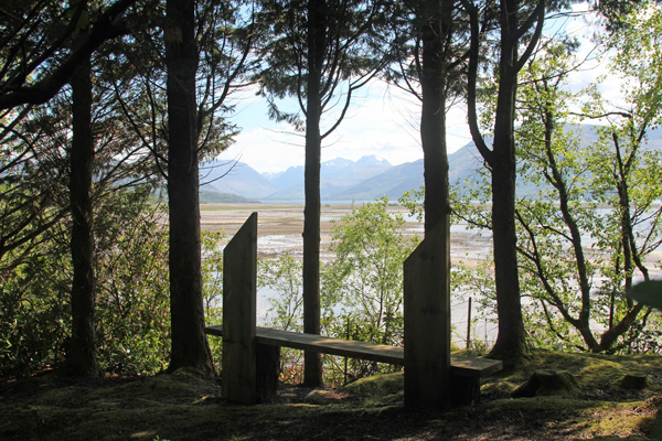 A bench with a view over Loch Linnhe