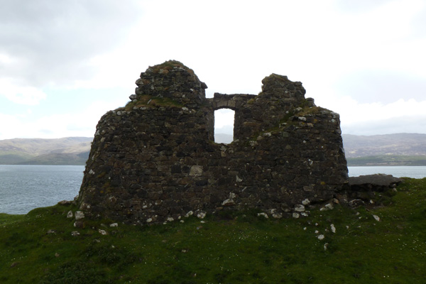 Ardtornish Castle from the inside