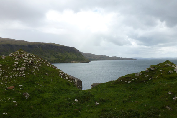 Ardtornish Castle from inside overlooking the Sound of Mull