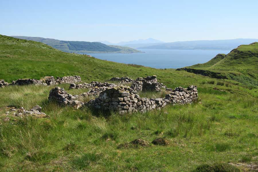 Bourblaige cleared settlment on the Ardnamurchan Peninsula