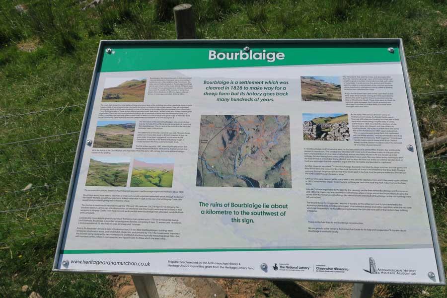 Heritage Ardnamurchan signage for Bourblaige
