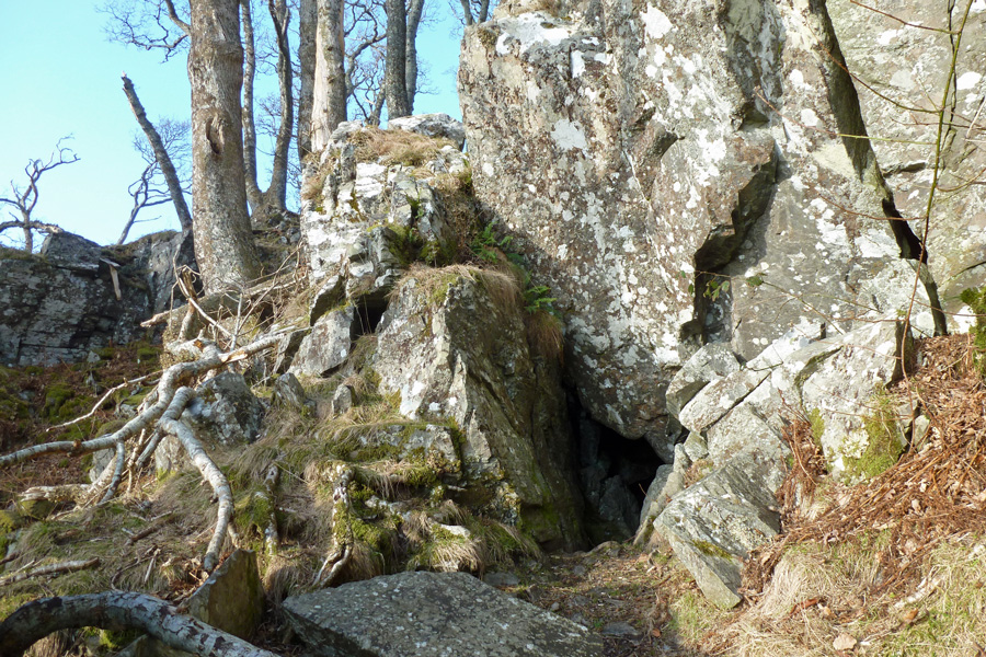 The entrance to Prince Charlie's Cave
