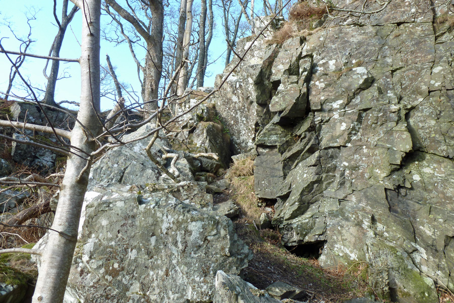 The path to Prince Charlie's cave
