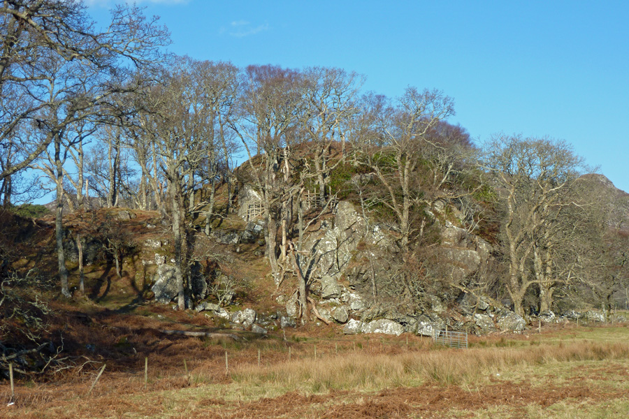 The rocky outcrop, the site of Prince Charlie's cave