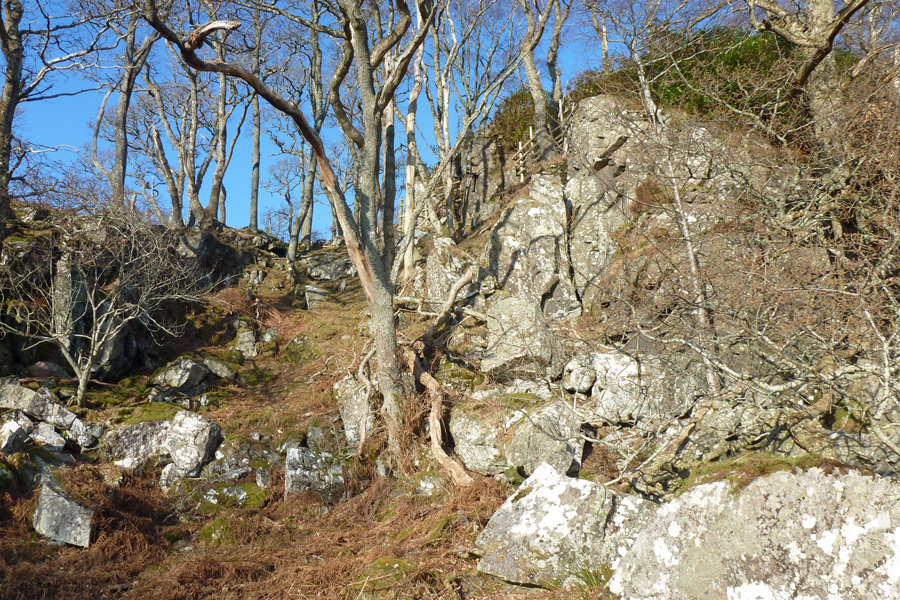Prince Charlie's cave can not be seen from below.