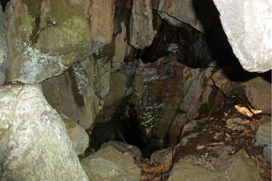 Inside Prince Charlie's cave
