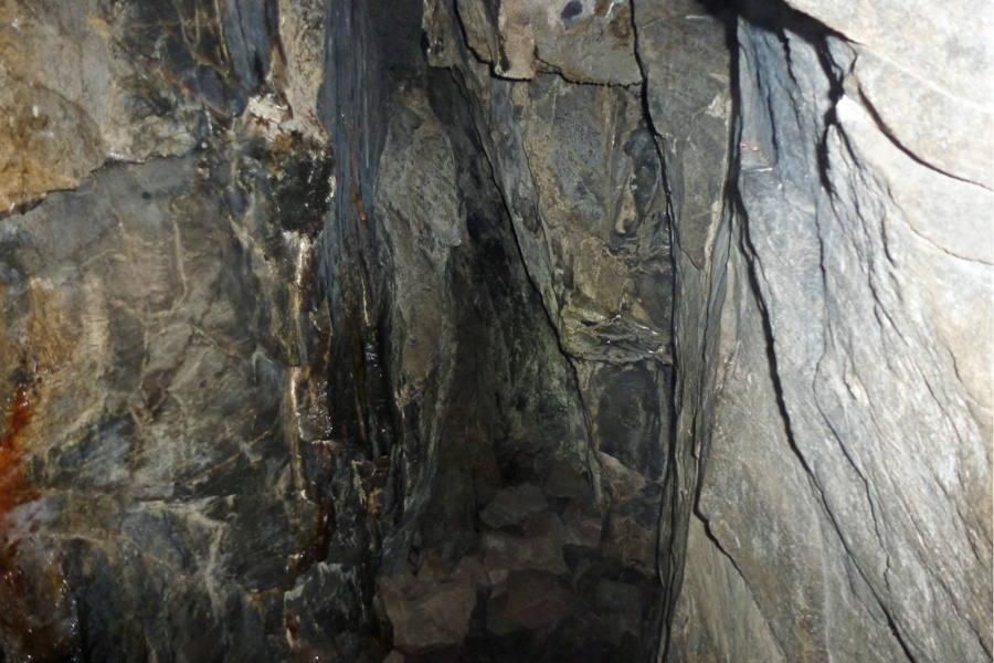 The inner chamber of Prince Charlie's cave
