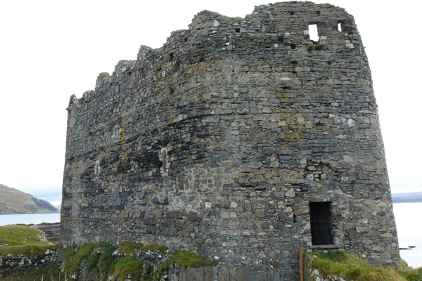 Mingary Castle - showing western curtain wall with entrance