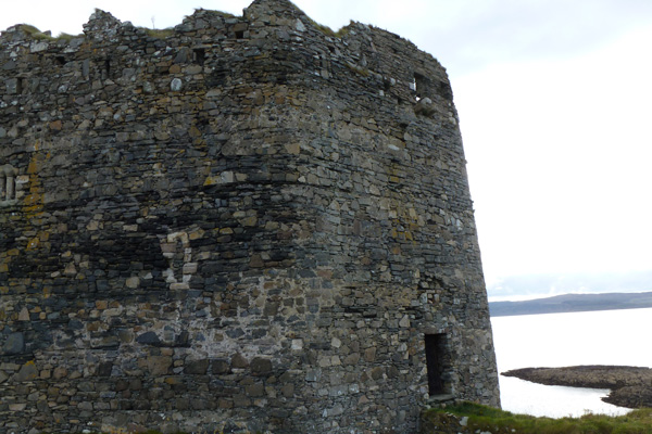 Mingary Castle showing northern and western defensive curtain walls