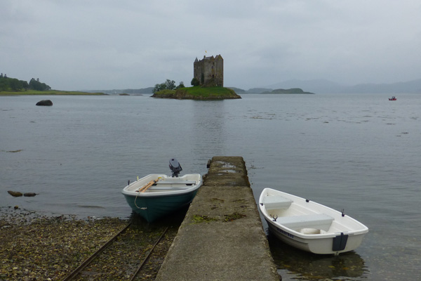 Taking a boat trip to Castle Stalker