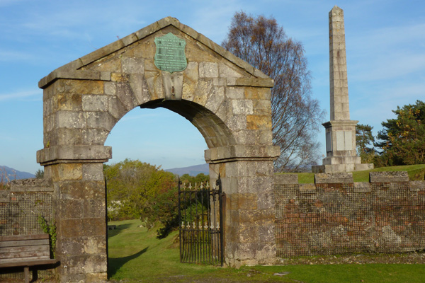 Former entrance archway to the Fort now at Craigs Burial Ground
