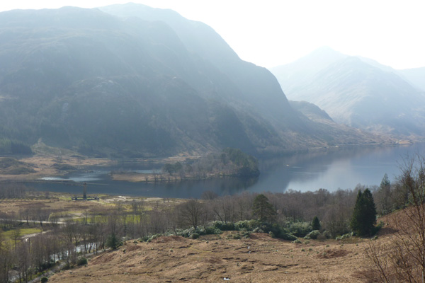View of the Glenfinnan Monument from the Viaduct and Station walk