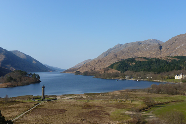 The Glenfinnan Monument from the National Trust viewpoint