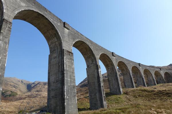 Glenfinnan Viaduct - mass concrete construction