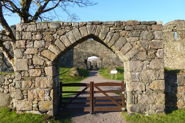 Old Inverlochy Castle- outer gate