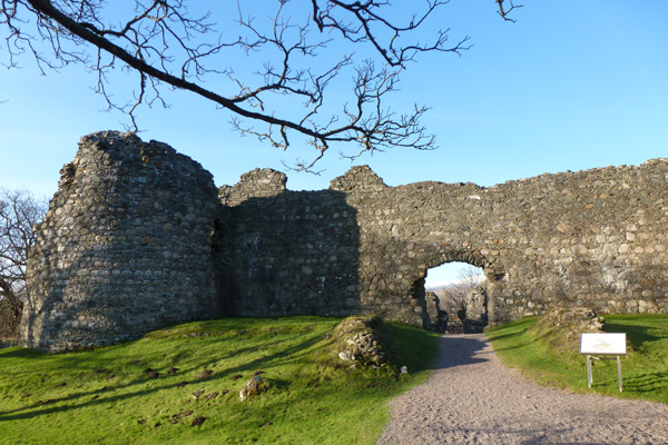 Old Inverlochy Castle with corner tower