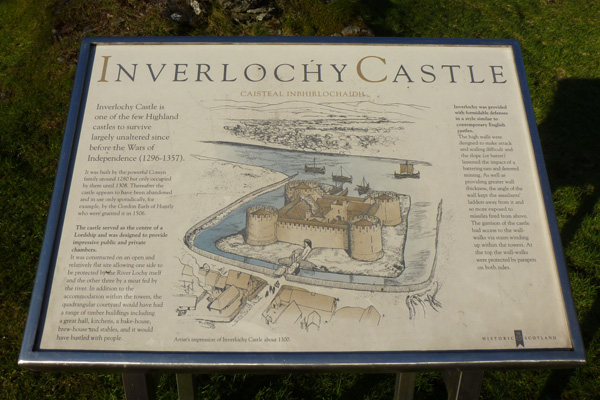 Old Inverlochy Castle- interpretation board