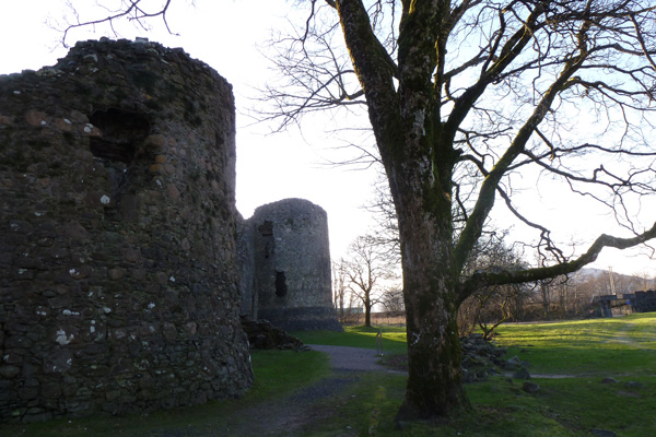 Old Inverlochy Castle- showing two of the corner towers