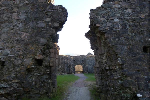 Old Inverlochy Castle- looking into quadrangular courtyard