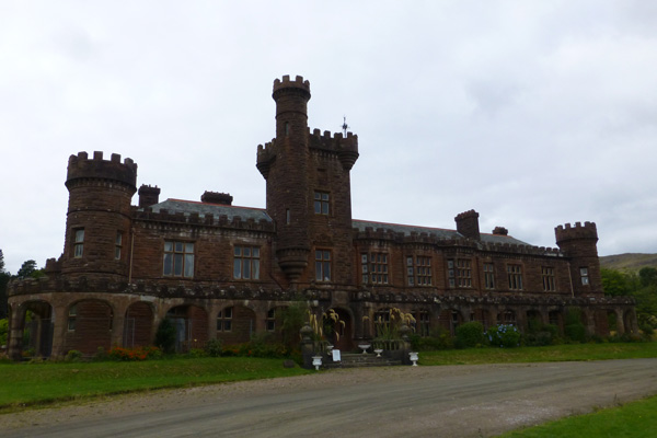 Front view and entrance to Kinloch Castle
