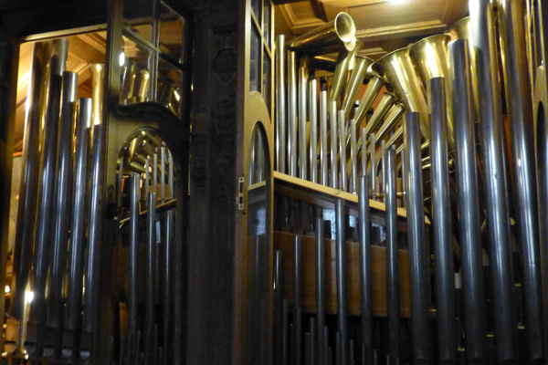 Orchestrion in Kinloch Castle - simulates a 40 piece orchestra