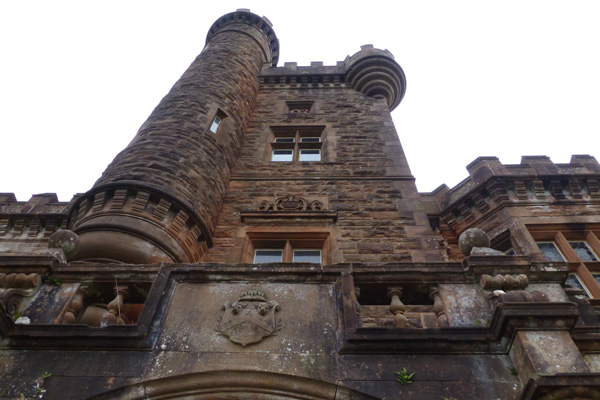 The turretted front of Kinloch Castle