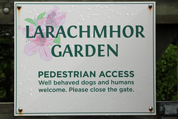 Larachmhor Gardens - well behaved dogs and humas welcome