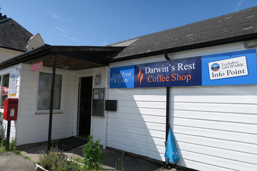 Darwin's Rest coffee shop in Roy Bridge