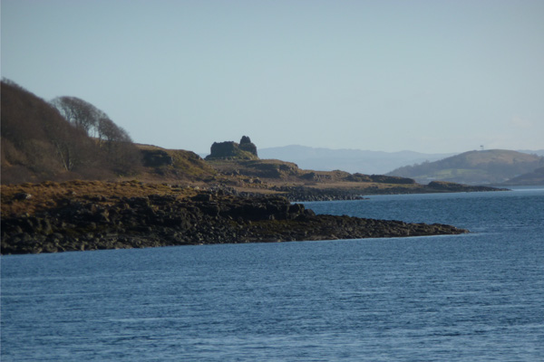 Ardtornish Castle and The Sound of Mull