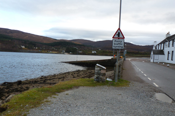 Board 16 is in a layby just North of The Corran Ferry terminal