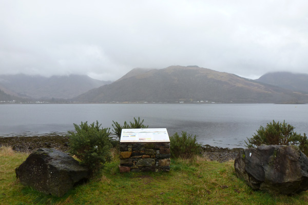 Lochaber Geopark Rock Route No 18 is on the shores of Loch Leven