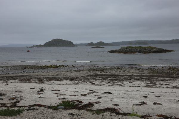 Looking out onto islands on Loch Ailort