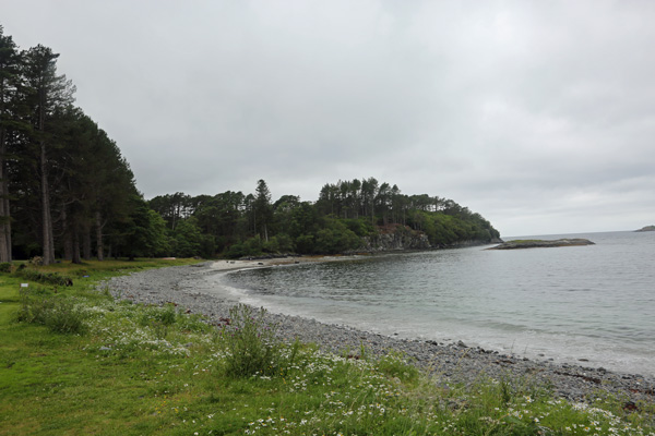 The beach infront of Roshven House