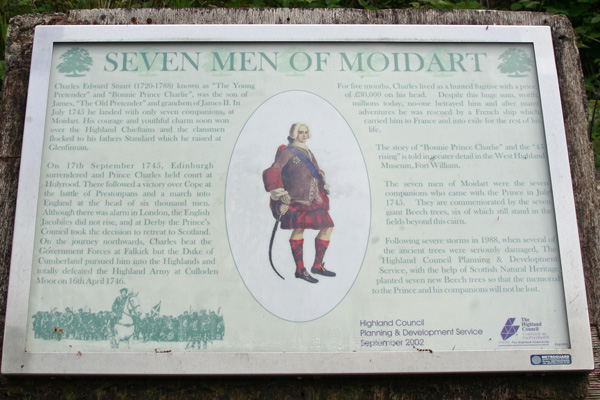 One of the original interpretation boards explaining the history of site