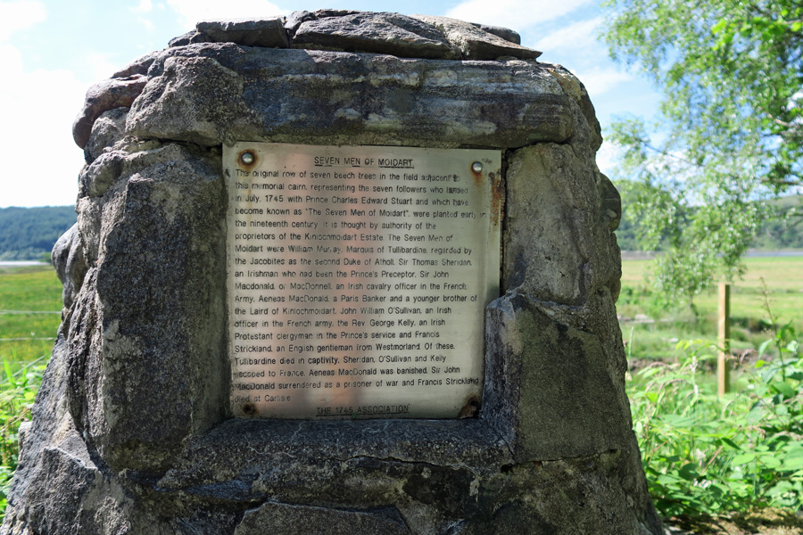 The 1745 Association Plaque for The Seven Men of Moidart