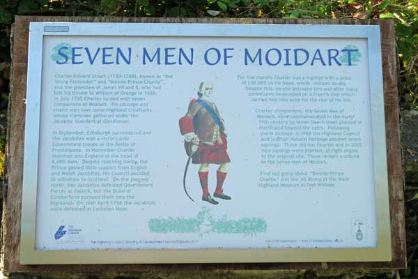 The Seven Men of Moidart Interpreation board - September 2017