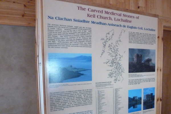 One of the interpretation boards in the Old Session House