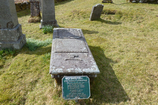 The gravestone of Donald Livingstone